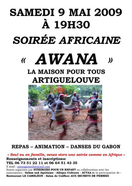 Affiche illustrée Soirée du 9 MAI 2009