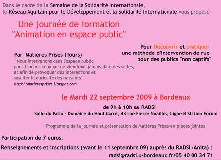 Bordeaux 22 sept
